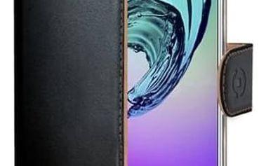 Pouzdro na mobil flipové Celly Wally pro Samsung Galaxy A3 (2016) (WALLY534) černé + Doprava zdarma