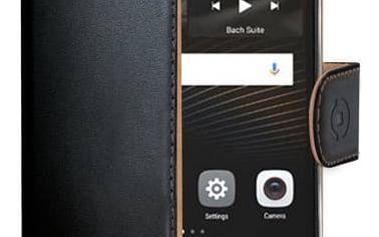Pouzdro na mobil flipové Celly Wally pro Huawei P9 Lite (WALLY564) černé + Doprava zdarma