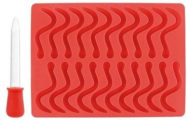 Silikonová forma na gumové žížaly