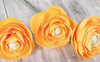 3hodinový kurz výroby květin z hedvábného papíru