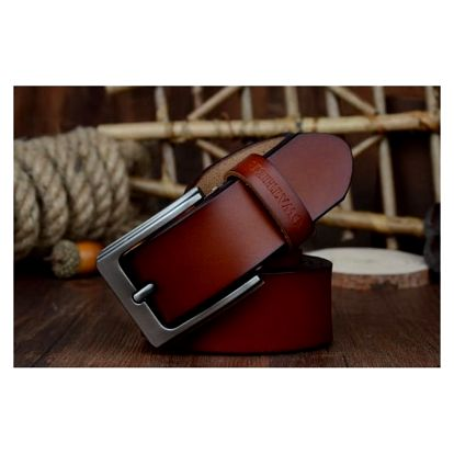 Pánský koženkový pásek v elegantním stylu - více velikostí