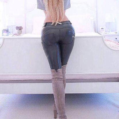 Push-up elastické kalhoty pro ženy