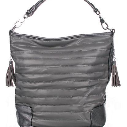 Fashion Icon Dámská kabelka s třásněmi metalický design crossbody malá Casual Elegantní malá umělá kůže 13