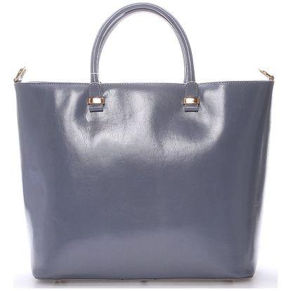 Luxusní dámská kožená kabelka šedá - ItalY Anabela šedá