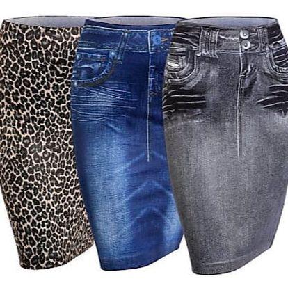 Sukně rock jeans - 3 kusy, vel.xl