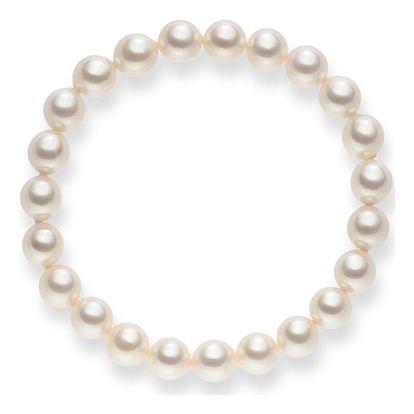 Bílý perlový náramek Pearls of London Mystic, délka 19cm