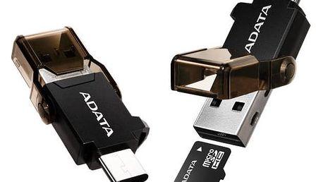 Redukce A-Data USB-C / USB 3.1 + čtečka paměťových karet (ACMR3PL-OTG-RBK) černá