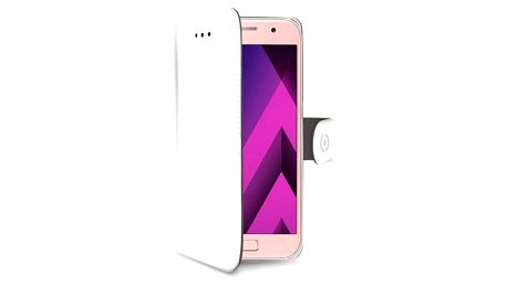 Pouzdro na mobil flipové Celly Wally pro Samsung Galaxy A3 (2017) (WALLY643WH) bílé