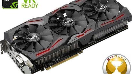 ASUS GeForce ROG STRIX GAMING GTX1080 DirectCU III, 8GB GDDR5X - 90YV09M1-M0NM00 + Kupon hra dle vlastního výběru: For Honor, Tom Clancy´s Ghost Recon v ceně 1499,- Kč