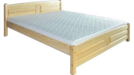 Dřevěná postel 120x200 LK104 - moření dub dub