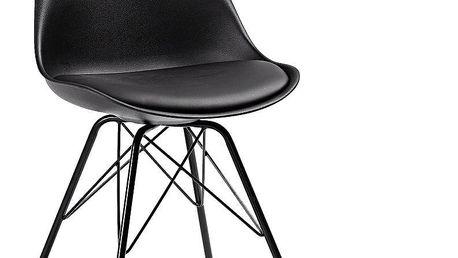 Sada 2 černých židlí La Forma Lars - doprava zdarma!