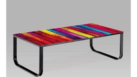 Konferenční stolek 90x45x38 cm sklo/kov