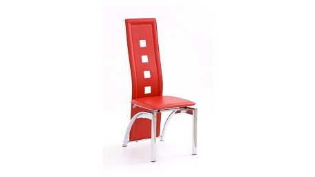 Kovová židle K4 červená