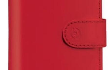 """Pouzdro na mobil flipové Celly Unica, L, 4"""" - 4.5"""" (WALLYUNILRD) červené"""
