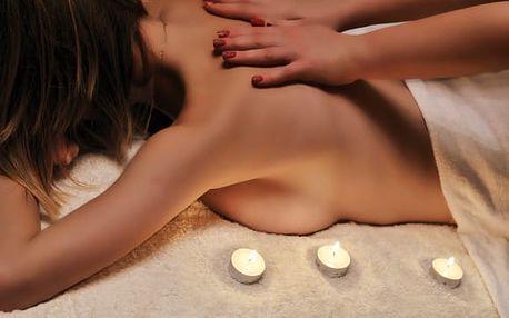 105min. relaxační balíček pro 1 nebo 2 osoby: masáž zad, nohou a šíje, peeling, zábal