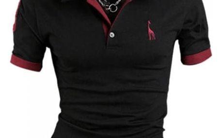 Pánské elegantní polo triko s límečkem