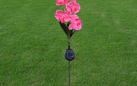 Venkovní lampa ve tvaru orchideje - solární napájení