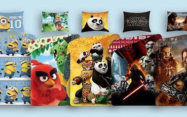 Ložní licenční povlečení pro děti s motivy pohádek a filmů ze 100% bavlny