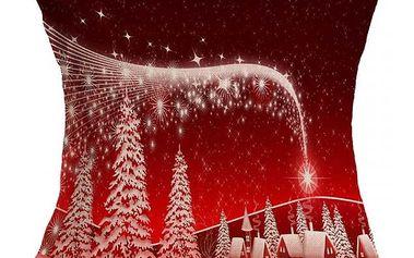 Povlak na polštář s vánočním motivem - dodání do 2 dnů