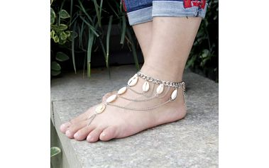 Řetízek na nohu s mušlemi Shell