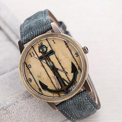 Vintage hodinky s kotvou