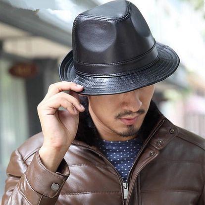 Ležérní pánský klobouk - černý
