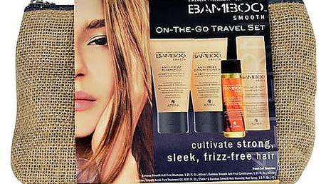 Alterna Bamboo Smooth Anti-Frizz šampon dárková sada W - šampon 40 ml + kondicionér 40 ml + lak na vlasy Anti-Humidity 43 g + vlasový olej Kendi Oil Pure Treatment 25 ml