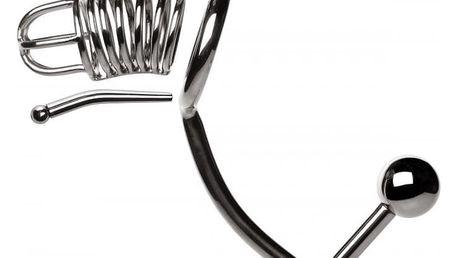 Slave4master pás cudnosti pro muže s penis plugem a anal lockem