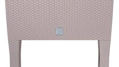 Truhlík samozavlažovací Prosperplast Rato case high 80 x 33 x 65 cm moka + Doprava zdarma