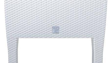 Truhlík samozavlažovací Prosperplast Rato case high 80 x 33 x 65 cm bílý + Doprava zdarma