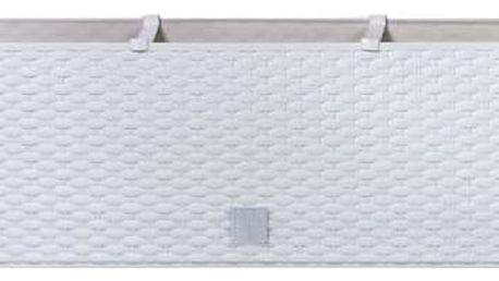 Truhlík samozavlažovací Prosperplast Rato case 80 x 33 x 32 cm bílý + Doprava zdarma