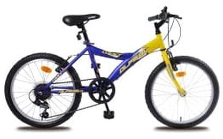 """OLPRAN Lucky/ Maty 20"""" 2016 žluto-modré dětské kolo"""
