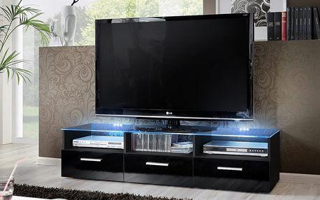 RTV stolek FRESH, černá matná/černý lesk