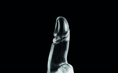 Dark Crystal DCC13 Nelson dildo průhledné 21,5 x 3,5 – 6,5 cm