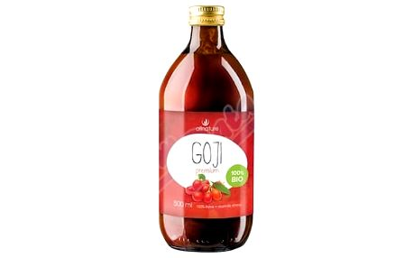 Allnature Goji BIO šťáva 500ml - 100% Bio šťáva 0,5 l +