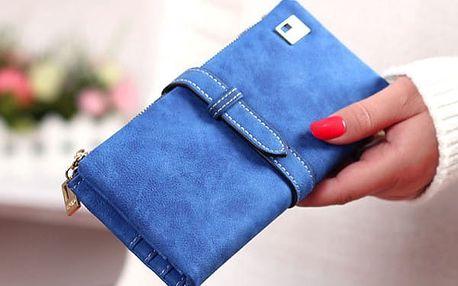 Dámská peněženka s dlouhým páskem na zavírání