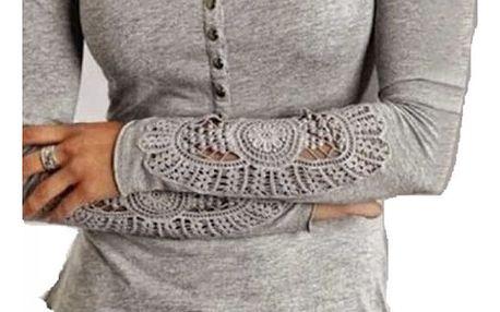 Tričko s krajkovými rukávy Miriam - 3 barvy