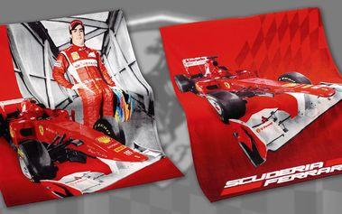 Fleecové deky s logem Ferrari (130 x 170 cm)