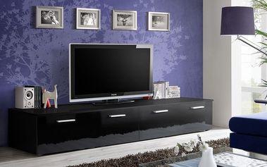 RTV stolek DUO, černá matná/černý lesk