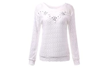 Romantické tričko v krémové barvě - 2 varianty