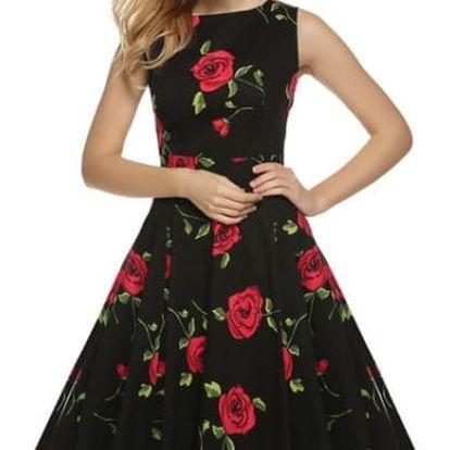 Květinové letní šaty ve swingovém stylu - 21 variant