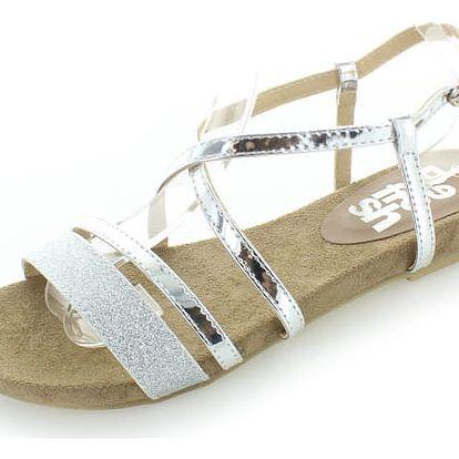 Stříbrné sandály Refresh 63429