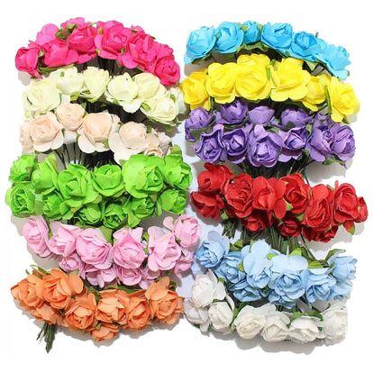 Velká sada 144 ks dekorativních umělých růží