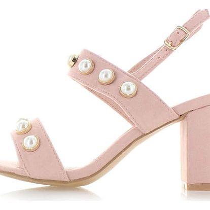 Růžové sandály Skila
