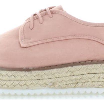 Růžové platformové boty Front