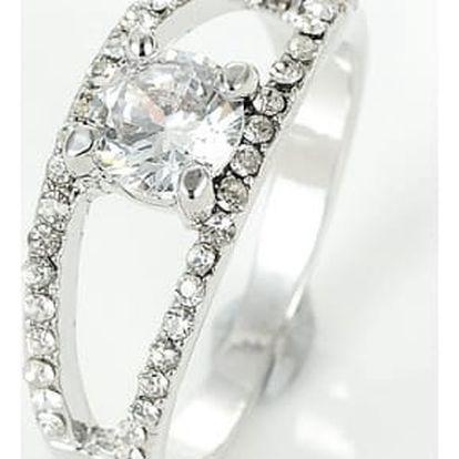 Třpytivý prstýnek s kamínky - dvě barvy