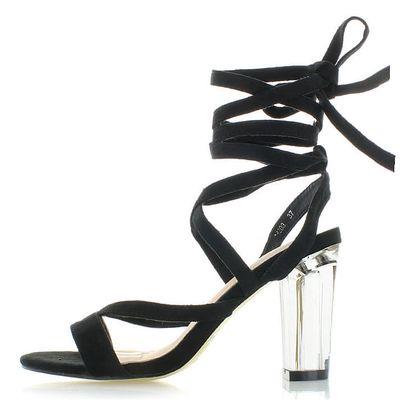 Černé sandály Parealla
