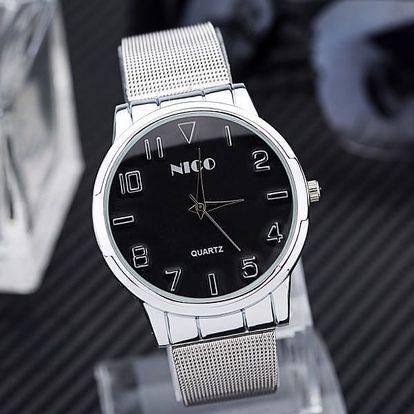 Elegantní unisex hodinky - řetízkový motiv pásku, 2 barvy