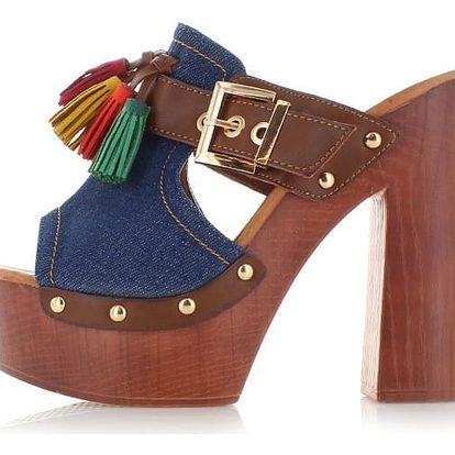 Modré pantofle Kopio