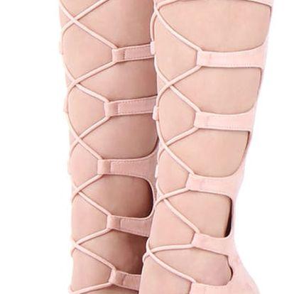 Světle růžové sandály Hurricane